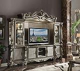 acme Versailles Entertainment Center in Antique Platinum Finish 91820