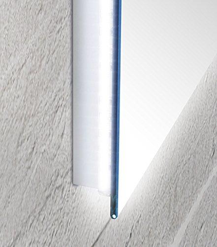 Specchio da bagno con luce a led perimetrale e vetro...