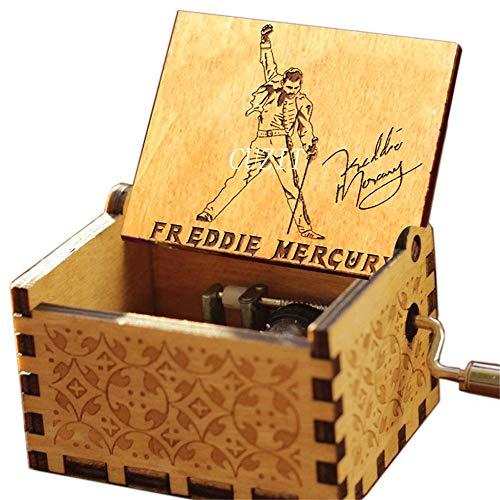 Cuzit Greatest Hits Queen Freddie Mercury Spieluhr mit Handkurbel aus Holz