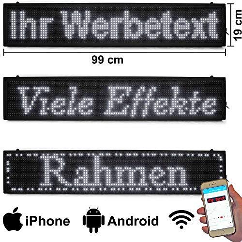 LED-Laufschrift 99x19 Weiß WiFi