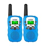 Ohime Kids Walkie Talkies,Cover 3 Miles Range with Backlit LCD Flashlight 22 Channels 2 Way Radio Toy Outdoor Adventures, Camping, Hiking,Party (2 Blue)