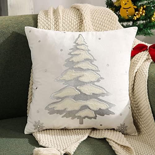LCFF Funda de Almohada de árbol de Navidad Dorado y...