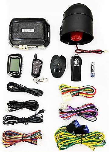 2 Way LCD Car Alarm Security System with Remote Start System Mobile Phone and Remote Key Control product image
