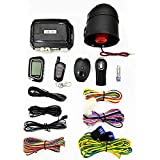 2 Way LCD Car Alarm Security System with Remote Start System Mobile Phone and Remote Key Control 1600 feet Range for Car