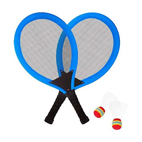 Watermelon Badmintonschläger Set Für Kinder, Leuchtender Schläger Mit LED-Lichtern, 2 Badminton, LED Badmintonschläger Set Für Nachtlicht Im Freien, Für Indoor-Sportaktivitäten Familienunterhaltung