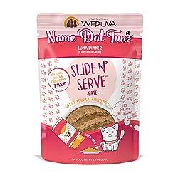 powerful Weruva Slide N'Pate Wet Cat Food Serving, Name' Dat Tuna Tuna Dinner, 2.8 oz Pack (12 Packs)…