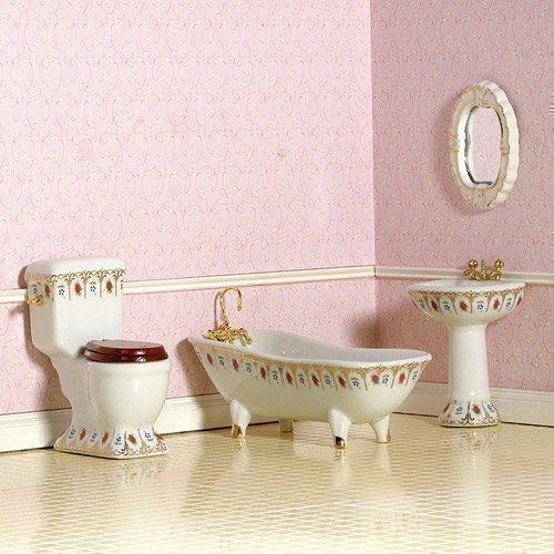 Dolls House 4442 Salle de bains luxueuse salle de bains victoriennes 1:12 pour maison de poupée