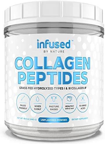 Collagen Peptides Powder from Infused By Nature 1 Dissolving Type I III Collagen Powder Anti product image