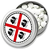 FAN Mint | 3er Set Pfefferminz Bonbons mit Sardinien Flagge | Geschenk, Souvenir Sardinien Fahne | Bonbon-Dose, Fan-Artikel, Party Deko (Sardinien)