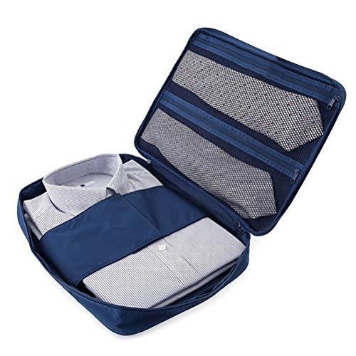 TOPBATHY Navy Blue Fashion Travel wasserdichte Aufbewahrung Organizer Taschen Tragbare Art Shirt Krawatte Finishing Package Kleideretui