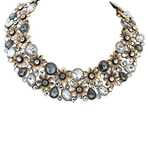 Aligeya Mode Kurze Halskette weibliche Blume Kragenkette Schmuck