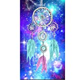Diamond Painting Kits for Adults Kids, 5D DIY Colored Diamond Art Accessories with Round Full Drill for Home Wall Decor - 11.8×15.7Inches