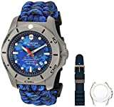 Victorinox Swiss Army Men's I.N.O.X. Titanium Swiss-Quartz Diving Watch with Nylon Strap, Blue, 23 (Model: 241813)