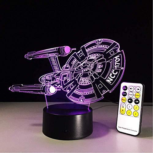 Lámpara 3D ilusión Luz de Noche Ofertas interestelares regalo de cumpleaños para jóvenes, niñas Con interfaz USB, cambio de color colorido