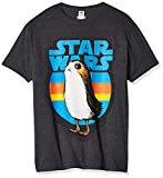 Star Wars Men's Last Jedi PORG Graphic Tees, charcoal heather 070, large
