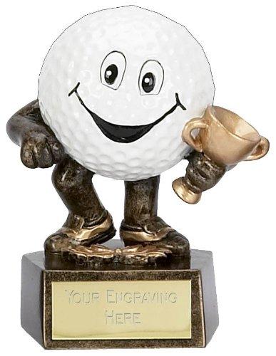 Golf Man3 Golfball-Trophäe, 9,5 cm, mit kostenloser Gravur bis zu 50 Buchstaben A903