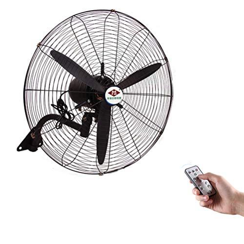 Ventilatore a Parete Industriale con Telecomando, Ventola oscillante a Parete, Alta velocità/Nero/Heavy Duty, 58 cm / 23 Pollici, 68 cm / 26 Pollici, 78 cm / 31 Pollici