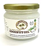 Coconutty Raw Extra Virgin Coconut Oil, 300ml - Cold Pressed, Glass Jar, 100%