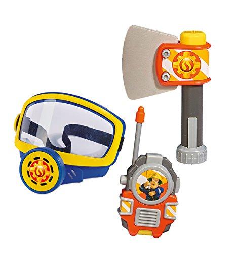 Simba  109252235 - Feuerwehrmann Sam Feuerwehr Sauerstoffmaske, mit WalkieTalkie und Axt, für Kinder ab 3 Jahren