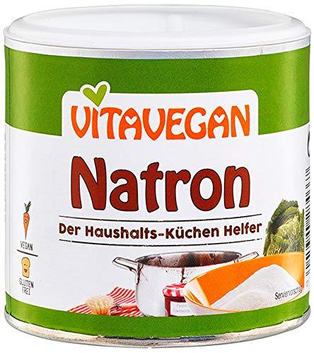 Bicarbonato Di Sodio Alimentare Puro Biologico Natron (permesso di agricoltura biologica) 250g | Bicarbonato Di Sodio Certificato Senza Glutine E Alimentare