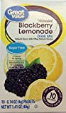 Great Value Sugar free Low calorie Blackberry Lemonade Drink Mix 10 packets (4 of 10 packets)