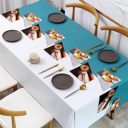 Mantel Rectangular con Estampado Floral de Color Puro, decoración de Boda, Mantel de Mesa de Centro para Restaurante, Cubierta 140x180cm 02