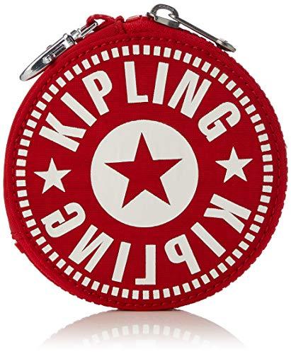 Kipling Damen Marguerite Nc Geldbörse, Rot (Lively Red), 10.5x10.5x1.5 cm