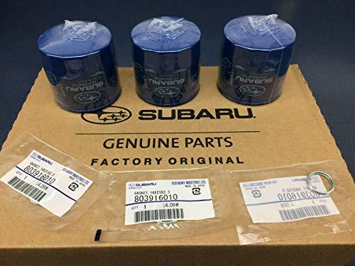 Subaru 3 Subaru Oil Filters & Drain Seals 2010 2011 2012 Legacy Outback 15208AA12A 803916010