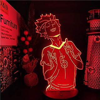 Haikyuu Tendou Satori Led ANIME LAMP Color cambiante luces de noche lampara para dormitorio regalo de Navidad