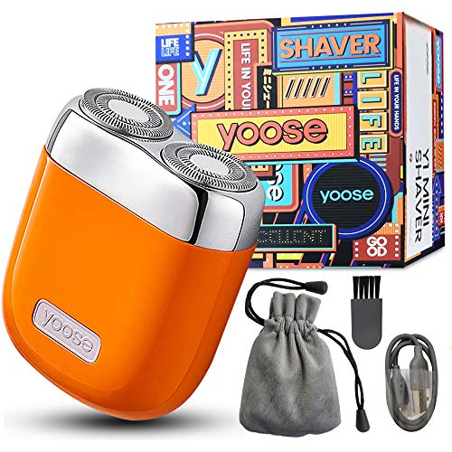 Christmas Gift for Men Smallest Electric Shaver, Mini Portable Fashion Razor Sophisticated Craftsmanship Top Materials USB Charging, The Best Gift for Father Husband Boyfriend (Orange)