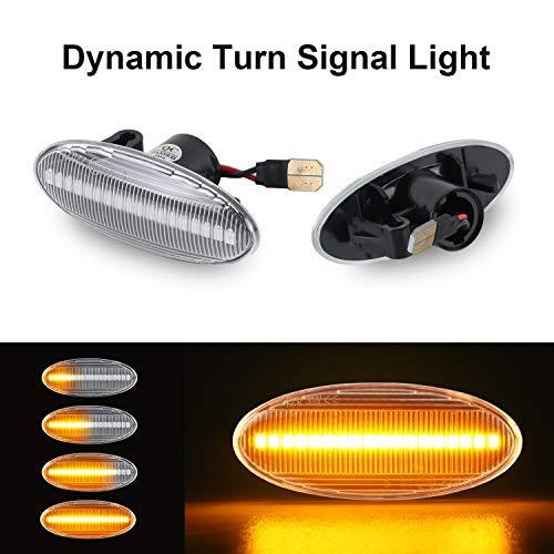 Dynamische Blinkleuchte OZ-LAMPE Seitenmarkierung Fließende Seitenmarkierungen Klar Für N-issan Cube Juke Leaf Micra K12 Micra K13 Hinweis E11 Qashqai J10 X-trail T31