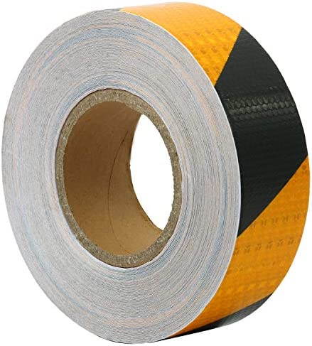 HYDDNice 2 X 150 FT Reflective Safety Tape Roll Reflective Hazard Caution Stripe Tape Yellow product image
