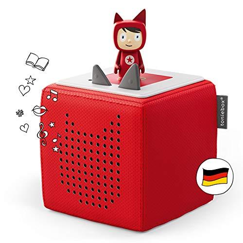 Toniebox Starterset in Rot: Toniebox + Kreativ-Tonie - Der Tragebare Lautsprecher für Tonies Hörfiguren und Kreativ Tonies - Für Kinder ab 3 Jahren - DEUTSCH