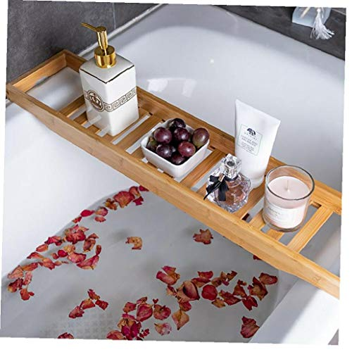 OMMO LEBEINDR Bambus-Holz-badewanne Rack-Badezimmer Regal Tidy Tablarlager Caddy Organizer Brownconvenient Regal