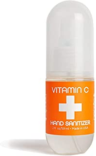Vitamin C Hand Sanitizer   Lightly Scented   Fast Absorbing Mist   Kills Bacteria   Perfect for Home, Office, or On the Go...