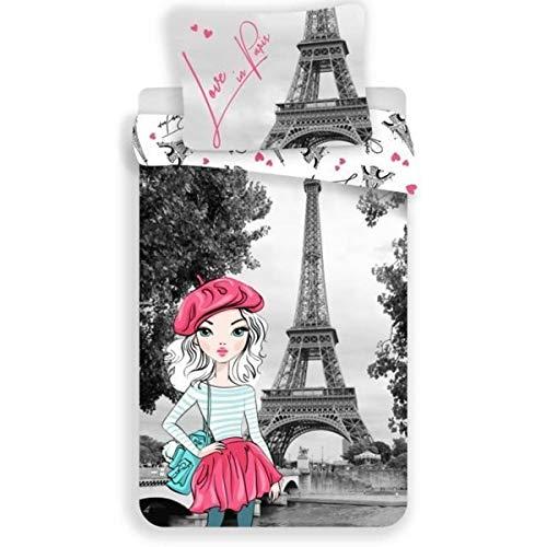 La Parisienne – Juego de cama Paris – Funda nórdica de algodón