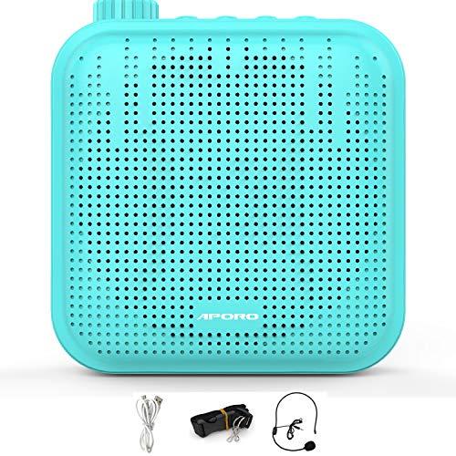Amplificador de Voz con 1200 mAh batería de Litio y el micrófono con Cable para docentes / Entrenadores / guías de Turismo