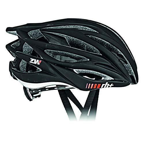 rh+ Zero Casco de Bicicleta para Practicar Deporte y para el Tiempo Libre, EHX6050-01-M, 54-58 cm, Color, Unisex Adulto, Nero Satinato/Nero Lucido, XS/M