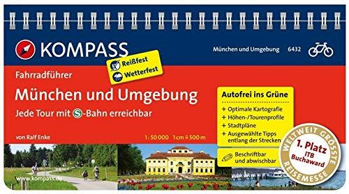 KOMPASS Fahrradführer München und Umgebung - Jede Tour mit S-Bahn erreichbar: Fahrradführer mit Routenkarten im optimalen Maßstab.