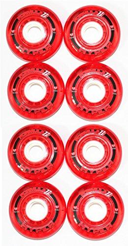 Hyper 4er 8er Set Formula-G Flex Hockey Rollen 76mm/78A Inliner Skates 18-N6 (8er Set Rollen)