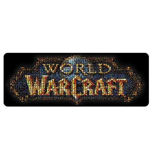 Mouse Pad Precision Speed Rubber Stable Grip Gaming or Japanese Comic Custom Mouse Mat 11.8'' x 31.4'' x 0.2'' (World of Warcraft)