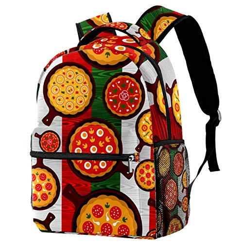KEAKIA Cartoon Delicious Pizza Schoolbag Bookbag Backpack for Teen Girls Boys School Bags Fits 14...