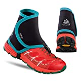 Azarxis Low Trail Gaiters Protective Shoe Covers Wrapid Gators for Men & Women & Youth Running Hiking Climbing (Green & Black)