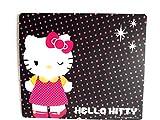cute winking hello kitty mousepad