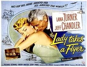 Posterazzi The Lady Takes A Flyer Lana Turner Jeff Chandler 1958 Movie Masterprint Poster Print (14 x 11)