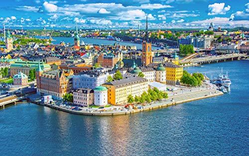 Puzzel 500 Stukjes Zweden Het Oude Deel Van De Stad, Educatieve Spellen, Puzzelgeschenken Voor Vrienden