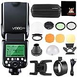 Godox V860II-C High Speed Sync 1 / 8000S GN60 2.4G TTL Li-on Batería Cámara Flash Speedlite para Canon EOS 6D 50D 60D 1DX 580EX II 5D (V860IIC+S-R1+AK-R1)