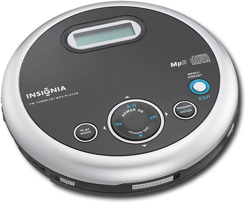 Insignia NS-P5113 Portable CD Player with FM Tuner and MP3 Playback, Black