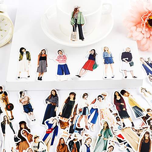 Karakter Hand Account Stickers Zelfgemaakte Hand Account Dagboek Album Decoratie Stickers Retro Japanse Diverse Japanse Jurk Meisjes 130