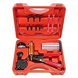 Beduan 16pcs Brake Bleeder Kit Hand Held Vacuum Pump Tester with Adapters for Automotive